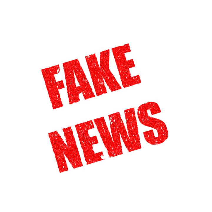 A banner of fake news.