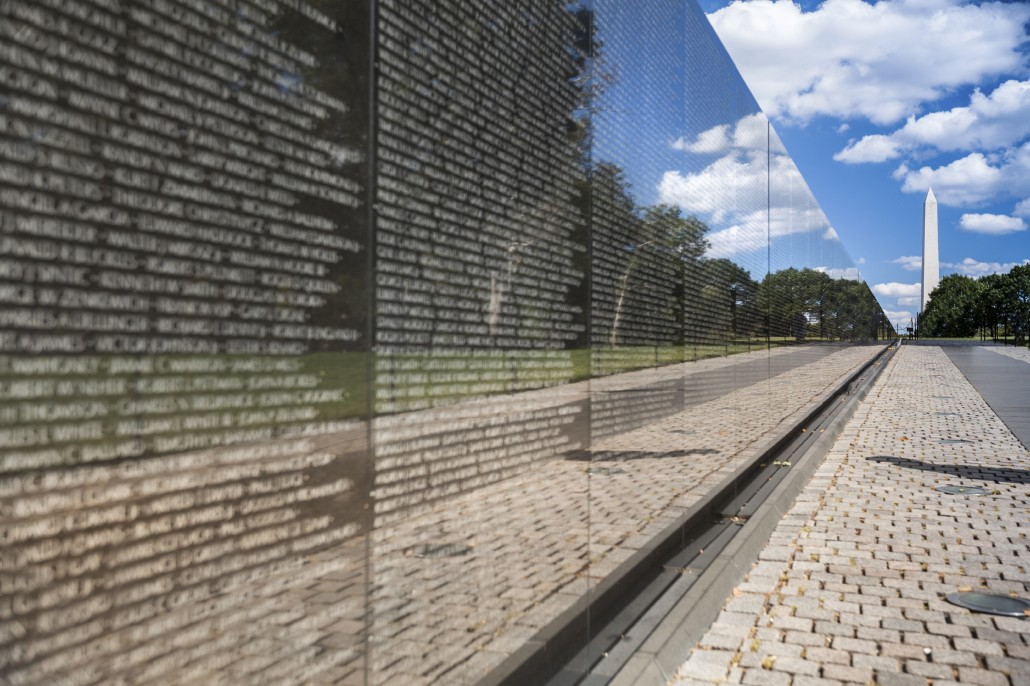 Veterans Memorial Wall.
