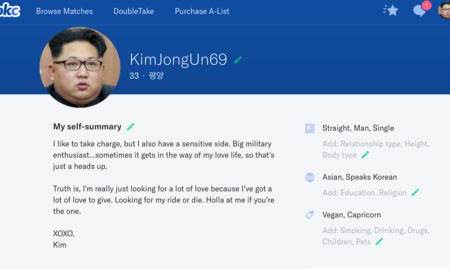 Lonely Kim Jong Un's OkCupid dating profile gets banned yet again.