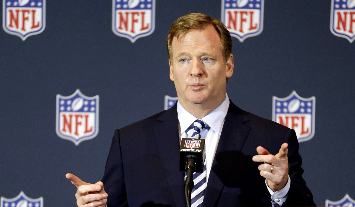 Roger Goodell explains NFL's new domestic violence policy.