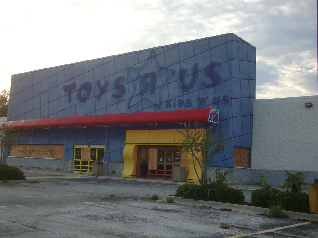 Jeff Bezos breaks into abandoned Toys R Us.